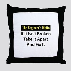 Engineer's Motto Throw Pillow